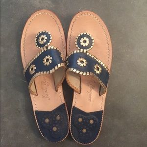 Jack Rogers Navy/Gold Size 10