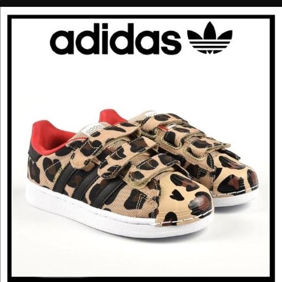Adidas Leopardato Velcro Scarpe Poshmark