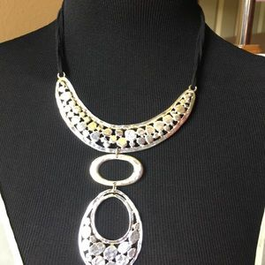 Jewelry - Silver & Gold Statement Necklace