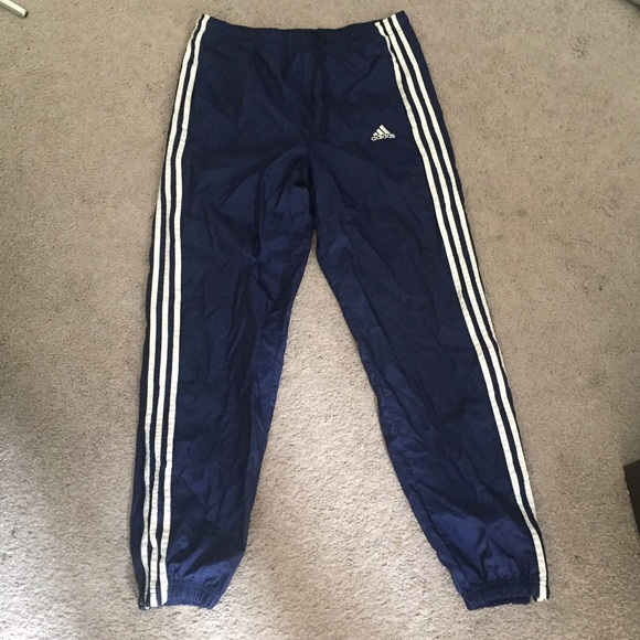 9f813950442c adidas Pants - Adidas navy 3 stripes ankle zip nylon track pants
