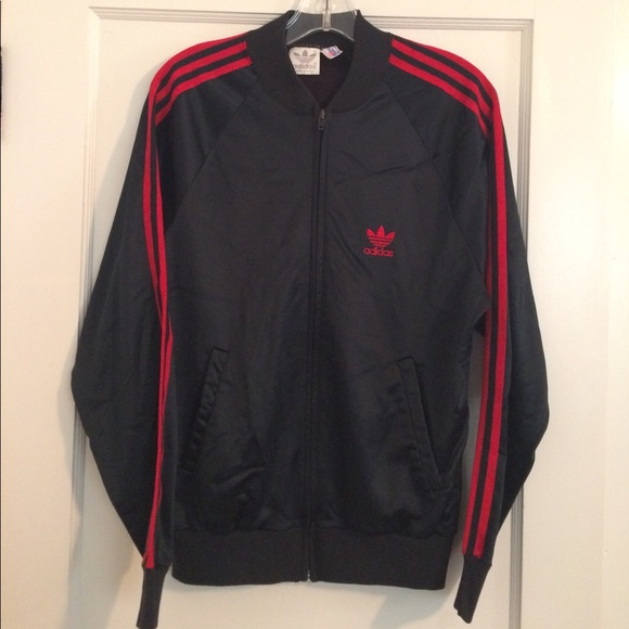 Adidas giacche & cappotti marina con striscia rossa tracciato giacca poshmark