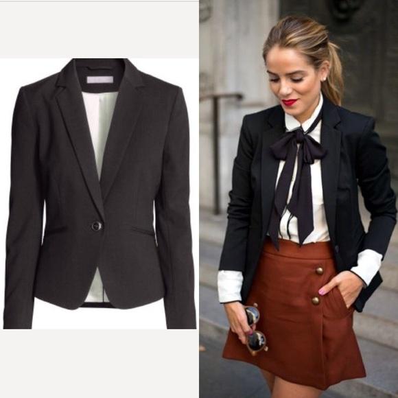 H M Jackets   Blazers - H M Women s Black Blazer Size ... d063c2bf7