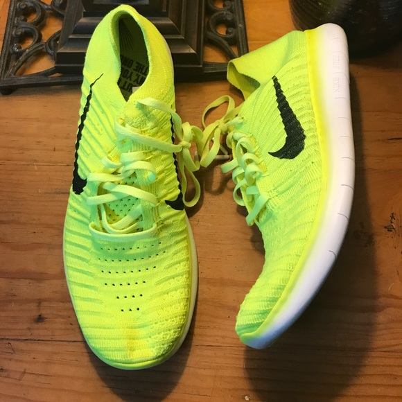 Nike Free Rn Flyknit Volt Neon Yellow