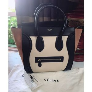 ⛔️SOLD ⛔️Celine Calfskin Tricolor Mini Luggage