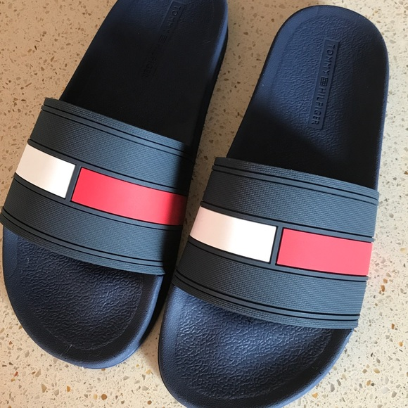 582dca953d0ca NEW Tommy Hilfiger Ernst Dark Blue Slippers Sz 13