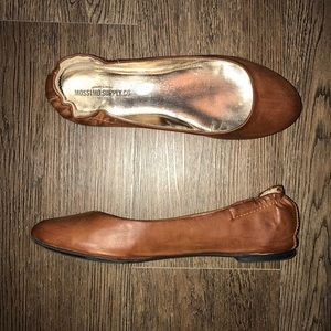 Mossimo Faux Brown Leather Flats Size 6.5