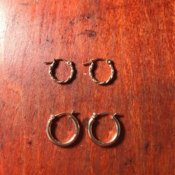 40ecace97 14K Gold Hoop Earrings Bundle. M_59791ba49c6fcf4f24007c80