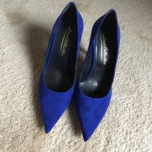 Shoes - Electric Blue Suede Heels