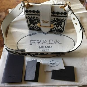 452ca21c4b7b Prada Bags   Cahier Embroidered Bag In Stores Now   Poshmark