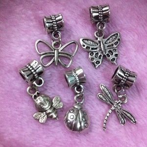 Jewelry - Butterfly, dragonfly, Bee, dangle charm set