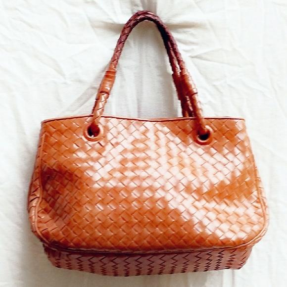 01106baf521 Bottega Veneta Bags   Vtg Intrecciato Woven Caramel Tote   Poshmark
