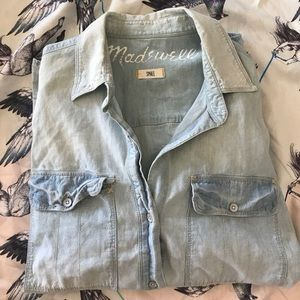 Madewell Oversized Faded Chambray Shirt