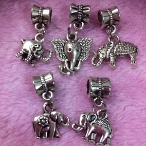 Jewelry - Lucky Elephant European Silver dangle charm sets