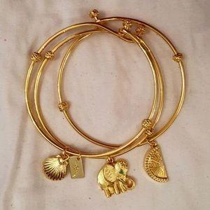 Lilly Pulitzer Gold Bangle Bracelet Set