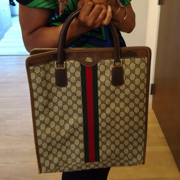 870213fb597 Gucci Handbags - Sale! 70s-80s Large Vintage Authentic Gucci Tote