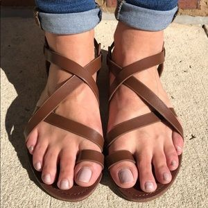 b216ab765fc6 Steve Madden Shoes - Steve Madden Agathist Leather Strappy Sandal