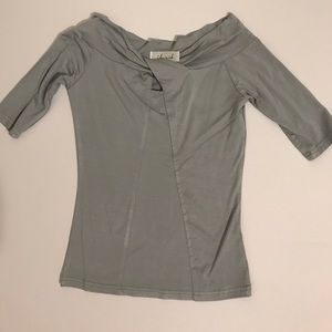 Chicwish knotted off shoulder grey top
