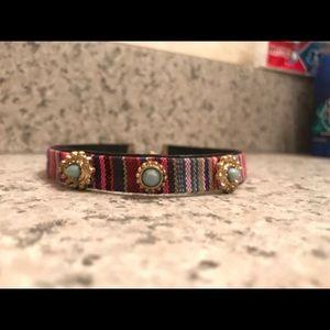 Jewelry - Multi colored striped choker Necklace