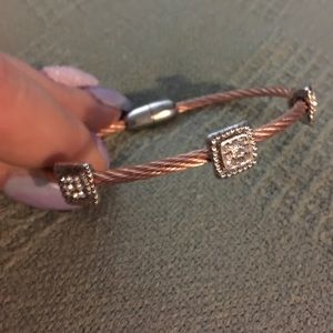 Jewelry - Stainless bracelet with rose colored plating