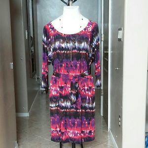 A.B.S Collection by Allen Shwartz Colorful Dress!