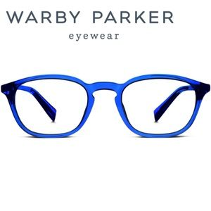 "Awesome Warby Parker ""Walker"" Blue Frame"