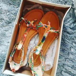 Tropical sandals (New with box)