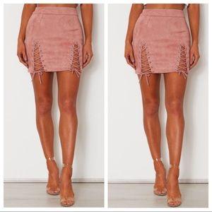 White fox Bromley Mini Skirt Rose S