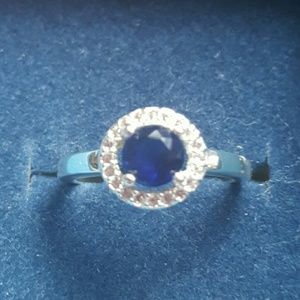 Jewelry - STERLING SAPPHIRE RING