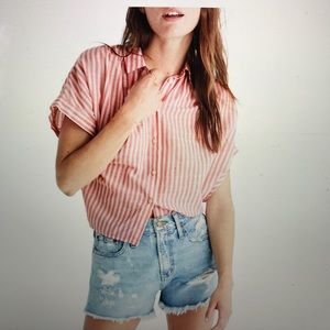 Madewell Central Tie Back Stripe Shirt