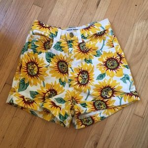 American Apparel Sunflower Shorts | size 24/25