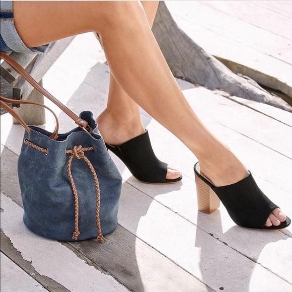 f3ffd63053f91 Black Chic Peep Toe Open Back Mules Boutique