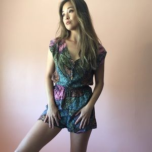 Vintage Jungle Print Romper