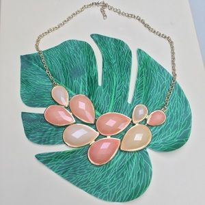Jewelry - NWOT Peach and Coral Fashion Statement  Necklace