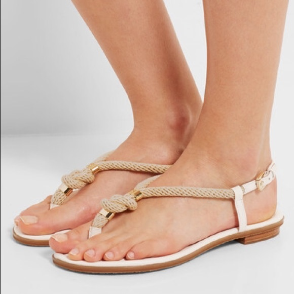 f3556a61a429 MICHAEL KORS Holly Flat Sandals with Rope Details.  M 5979423d99086a294b011a6e
