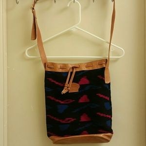 NWOT MULTICOLORED crossbody BAG