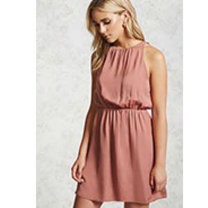 Satin Mauve Colored Dress