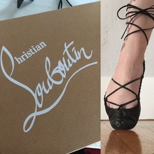 f5d8ae455a7 Christian Louboutin Lace Up Ballet Flat Gladiator