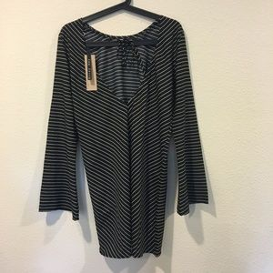 Asos Dresses - NWT Noisy May Striped Dress with Bell Sleeve