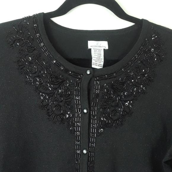Jaclyn Smith - JACLYN SMITH XL DRESSY BLACK CARDIGAN SWEATER from ...