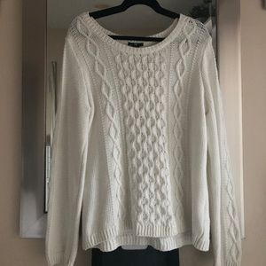 Cream coloured H&M cable knit sweater