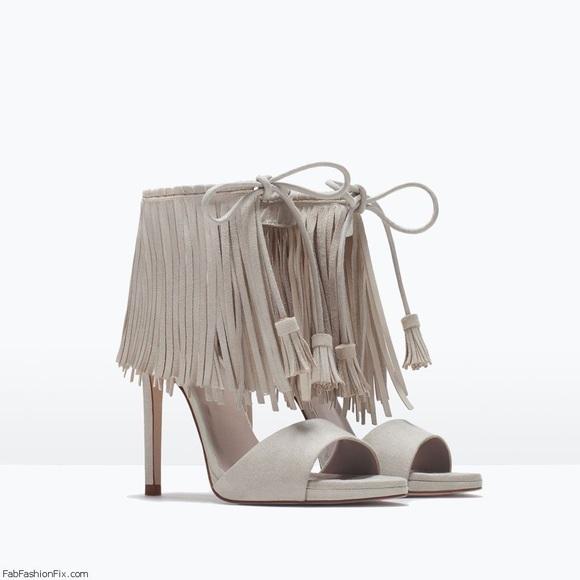 0048ca69581 Zara fringed heels. M 597958392599fe8889002a13