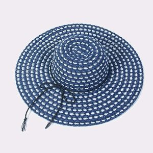 Accessories - Weaved Floppy Sun Hat Braided Cord Hats for Women
