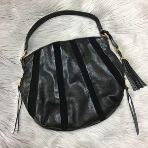 Aimee Kestenberg Black Leather/Suede Hoho Handbag