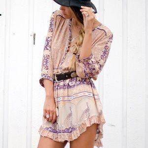Austin Gal Dresses Floral Xanudu Buttondown Romper