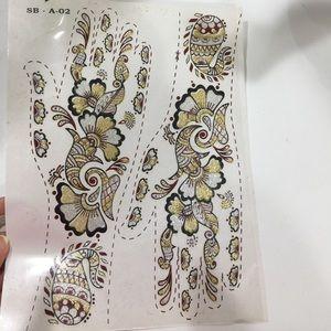Other - Temporary glitter henna tattoo designs