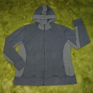 Life is Good Women's Gray Full Zip Hood Jacket XXL