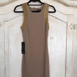 New Bebe Jeweled Midi Dress