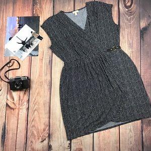 Michael Kors Faux Wrap Sleeveless Dress Print