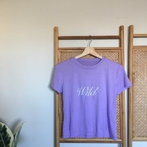 💜 WILD Fitted T Shirt - OS 💜