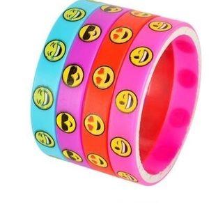 Other - 4 emoji wristbands +4 neon +8 friendship bracelets
